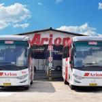 kendaraan bus wisata arion