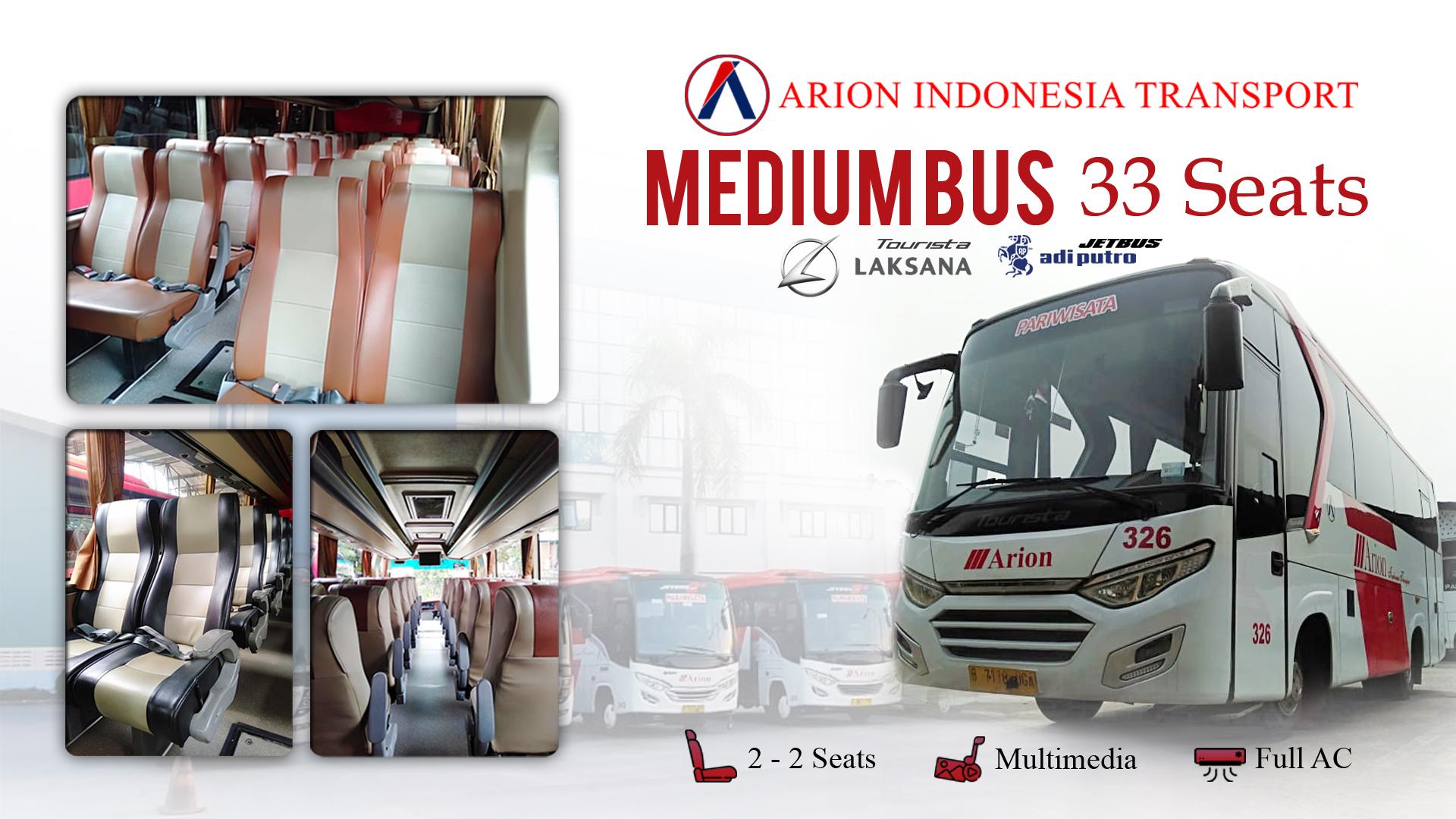Bus Wisata Jakarta Medium 33 seats