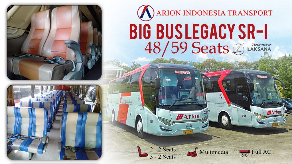 Sewa Bus Pariwisata SR1 48-59 seats