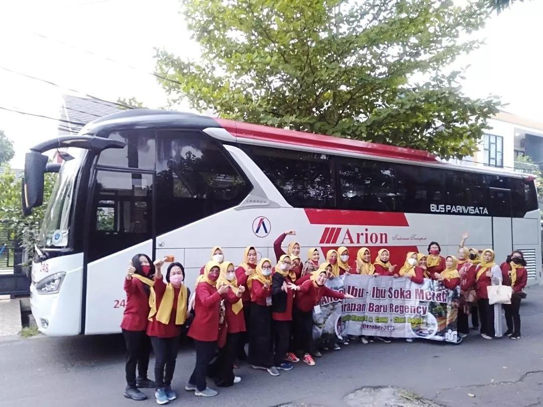 Bus Pariwisata ke Puncak