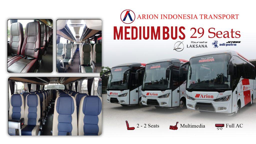 Sewa Bus Pariwisata 29 seats